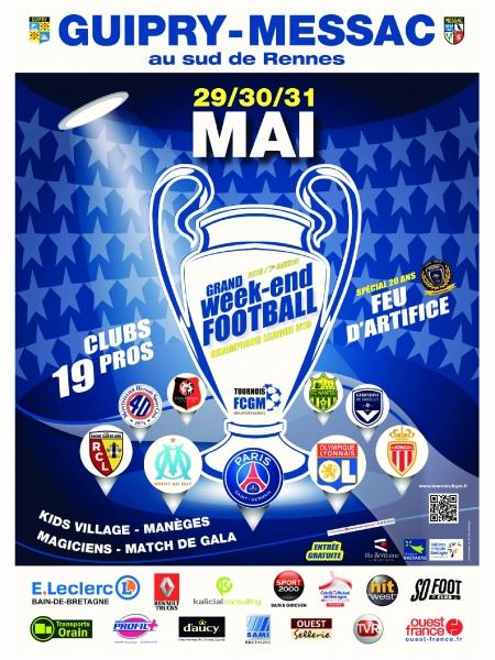 Affiche officielle FCGM Champions League 2015
